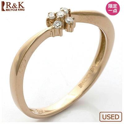 K18PG リング ダイヤモンド フラワー 18金ピンクゴールド