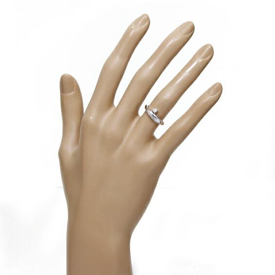 PT950 リング 指輪 ダイヤモンド D0.07 7.5号 プラチナ