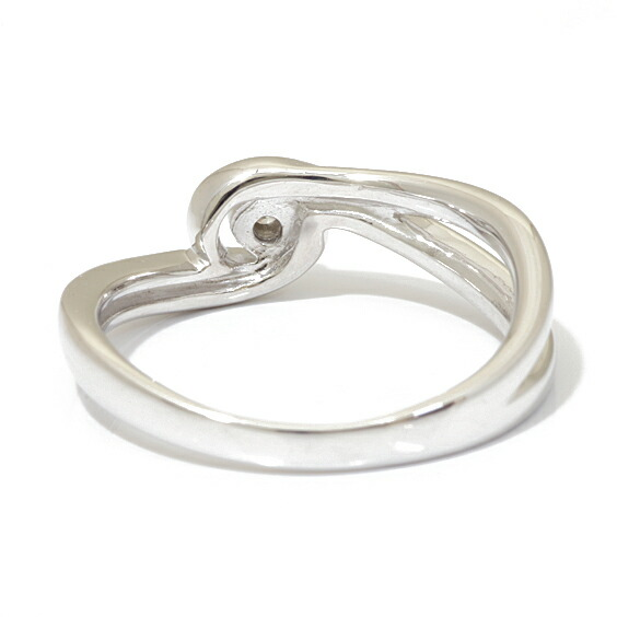 K18WG リング 指輪 ダイヤモンド 9号 一粒 プラチナ