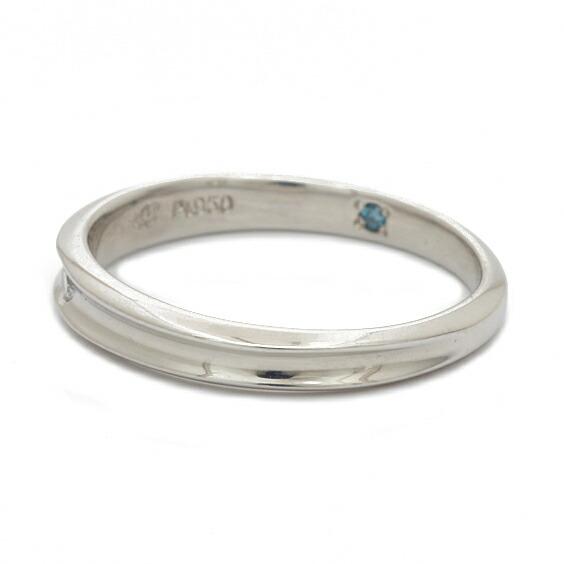 PT950 リング 指輪 ダイヤモンド 一粒 7.5号 プラチナ