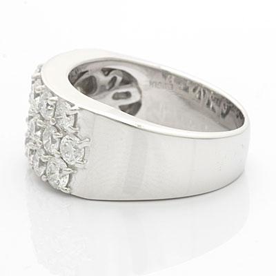 ●K18WG ダイヤモンドリング D2.00 18金ホワイトゴールド