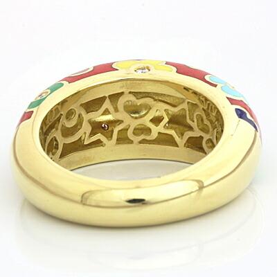 K18 ダイヤモンドリング 指輪 D0.12 Ponte Vecchio フラワー 花 18金