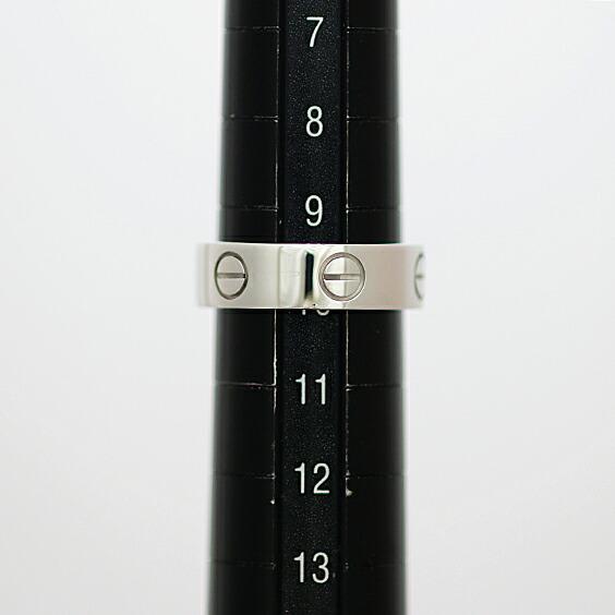 K18WG Cartier ラブ リング 10号 #50 18金 ホワイトゴールド カルティエ