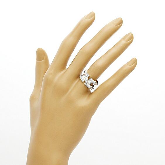 K18WG リング CHAUMET ダイヤモンド リアンドゥ 12号 #52 18金 ホワイトゴールド ショーメ