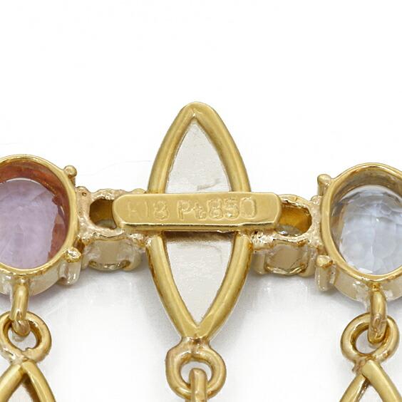 K18 PT850 ネックレス サファイア ダイヤモンド 18K 18金 ゴールド プラチナ