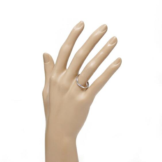 TIFFANY&Co. カーブドリング 指輪 PT950 17.5号 プラチナ ティファニー