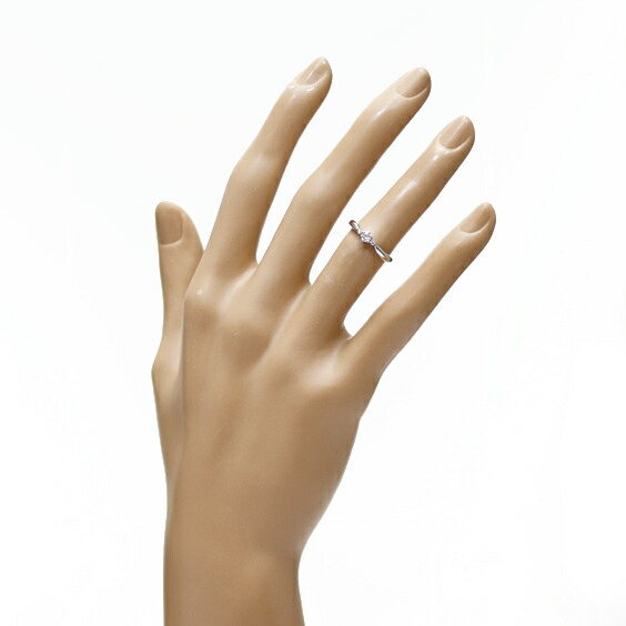 PT900 リング 指輪 ダイヤモンド D0.10 D0.02 6号 プラチナ