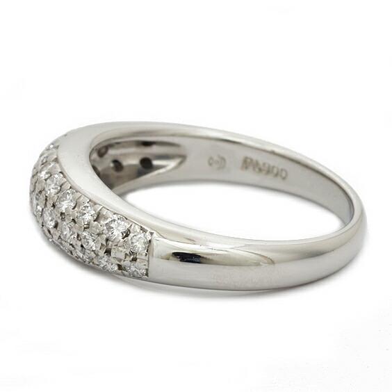 PT900 リング 指輪 ダイヤモンド D0.43 パヴェ 9号 プラチナ
