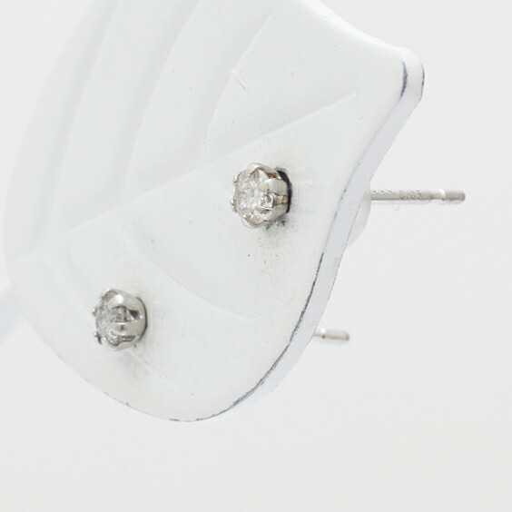 PT900 ピアス ダイヤモンド D0.10 一粒 プラチナ