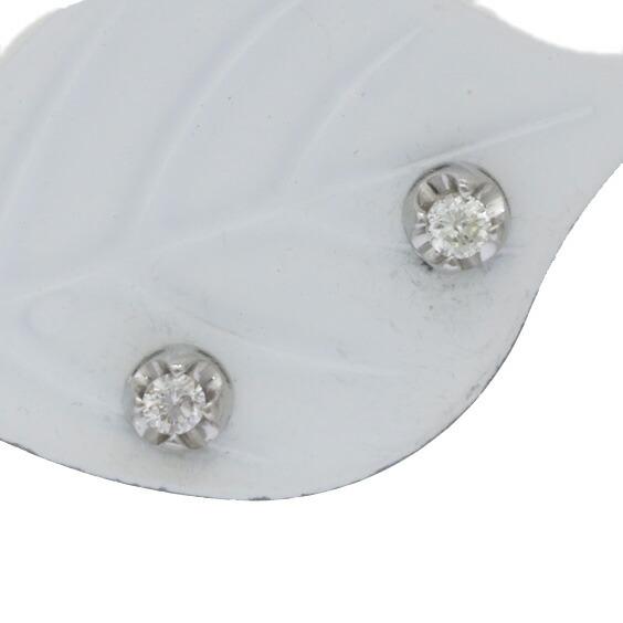 ピアス PT900 ダイヤモンド D0.10 一粒 プラチナ