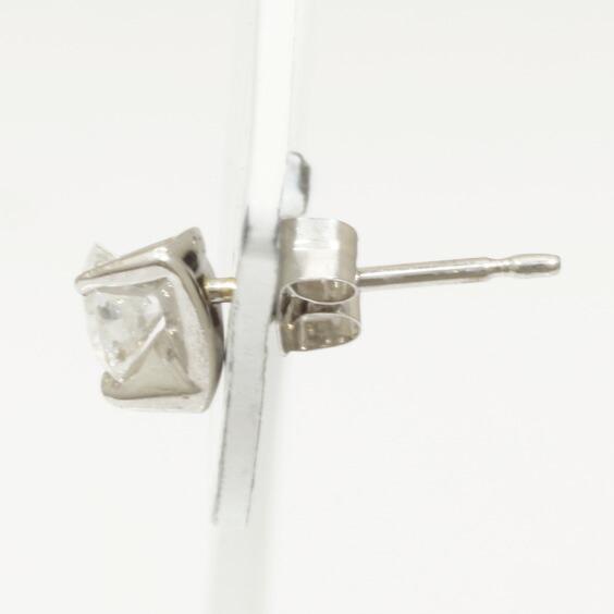 ピアス PT900 ダイヤモンド D0.50 一粒 トライアングル 三角 プラチナ