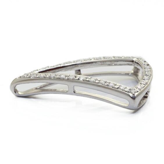 ペンダントトップ PT900 ダイヤモンド D0.31 三角(トップのみの販売) プラチナ※※