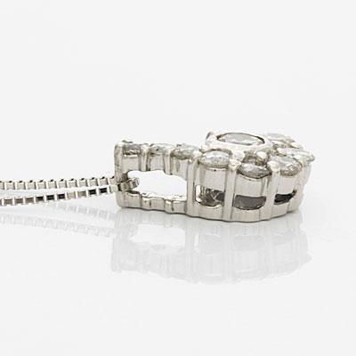 ◎PT900/PT850 ダイヤモンドネックレス D0.50 プラチナ