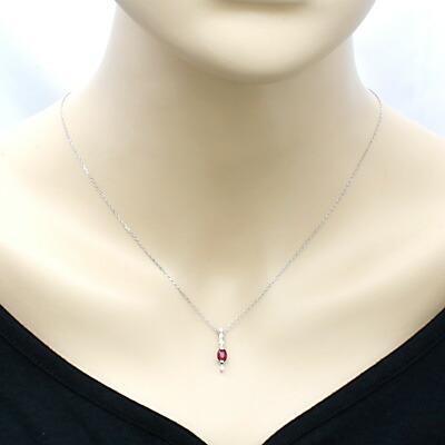 PT900/PT850 ネックレス ルビー R0.58 ダイヤモンド D0.06 プラチナ