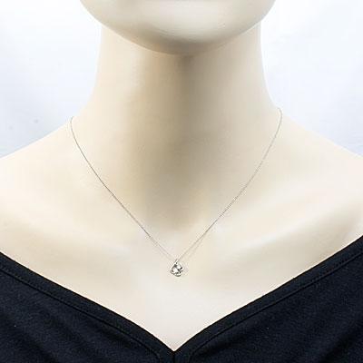 ◎PT900/PT850 ダイヤモンドネックレス D0.10 プラチナ