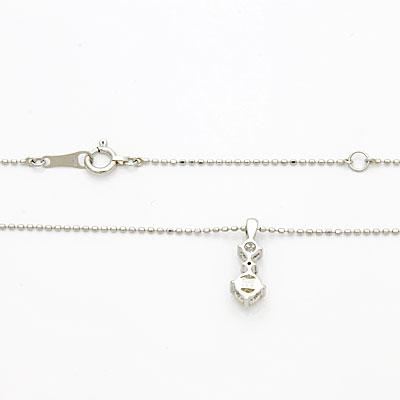 ◎PT900/PT850 ダイヤモンドネックレス D0.30 プラチナ