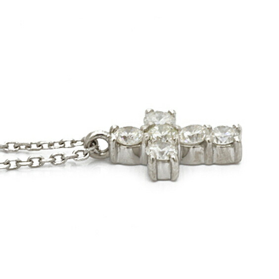 PT900 PT850 ネックレス ダイヤモンド D0.30 クロス プラチナ