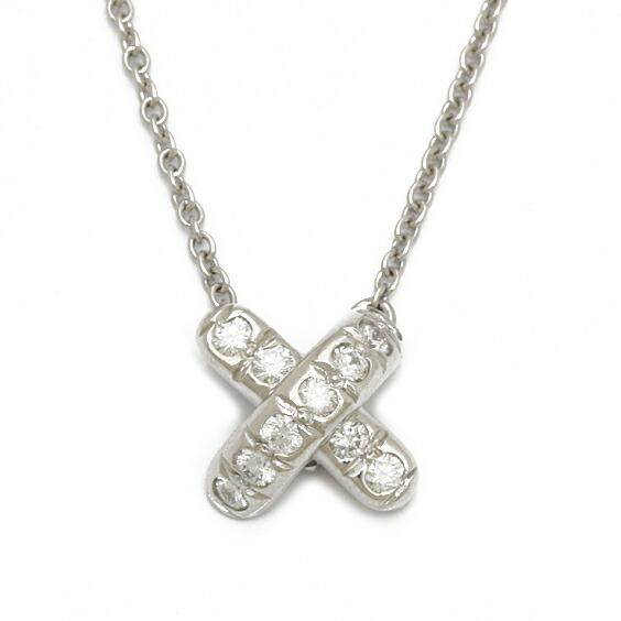 TIFFANY&CO. ネックレス PT950 ダイヤモンド クロスステッチ プラチナ ティファニー