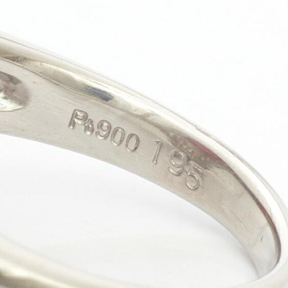 ◎PT900 ダイヤモンド リング D0.70 ピンクトルマリン 10号 プラチナ