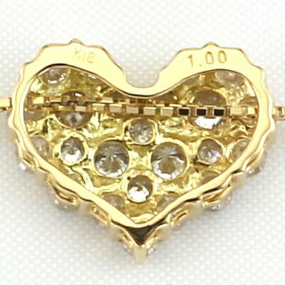 K18 ダイヤネックレス D0.35