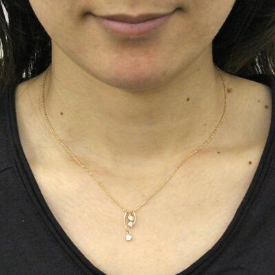 K18PG ダイヤモンドネックレス D0.3 ピンクゴールド 18金