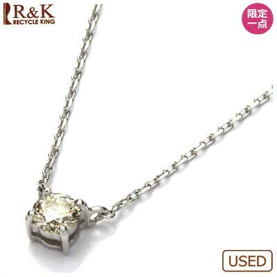 K18WG ダイヤモンドネックレス ダイヤ 18金