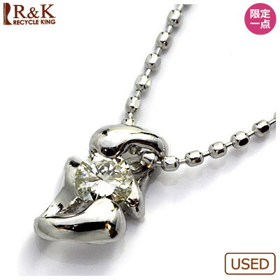 ◎K18WG ダイヤモンドネックレス D0.10 18金ホワイトゴールド