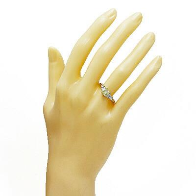 ◎PT900 ダイヤモンドリング D0.718/D0.32 プラチナ