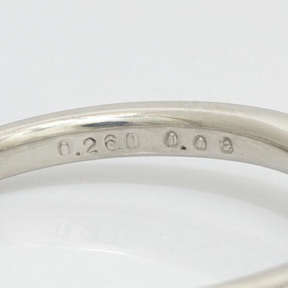 ◎PT900 ダイヤモンド リング D0.260/D0.08 12号 ダイヤ プラチナ