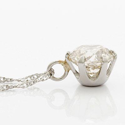 ◎PT900/PT850 ダイヤモンドネックレス D0.60 一粒 プラチナ