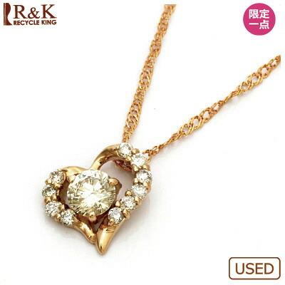 ◎K18PG ダイヤモンドネックレス D0.3 ハート 18金ピンクゴールド