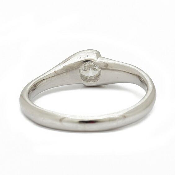 PT850 リング 指輪 ダイヤモンド D0.19 8.5号 プラチナ