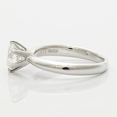 PT900 ダイヤモンドリング D1.005 リメイクジュエリー プラチナ〔地金は新品〕