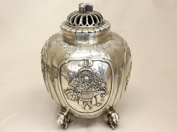 SV900 青鳳 銀製 香炉