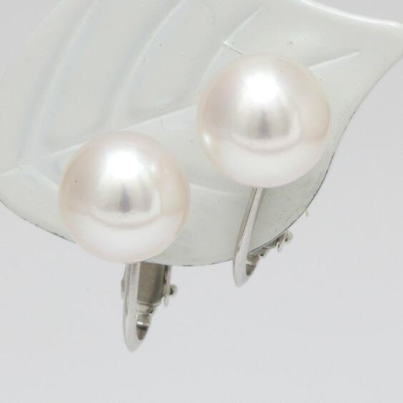 パールネックレス イヤリング セット レディース SV925 K14WG シルバー 14金 ホワイトゴールド 8-8.5mm あこや パール 真珠 花珠パール ネックレス 鑑別書付