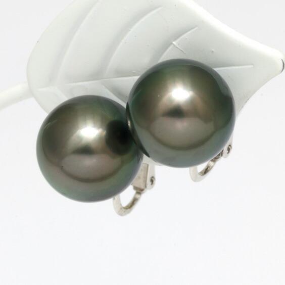 パールネックレス イヤリング セット レディース SILVER K14WG シルバー 14金 ホワイトゴールド 8-10mm タヒチ パール 真珠 黒蝶パール ネックレス