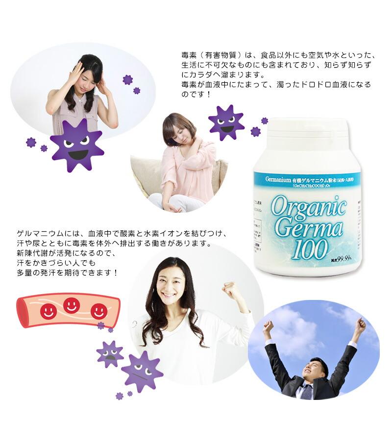 有機ゲルマニウム/Organicgerma/粉末/送料無料/ゲルマ/ge-132-4