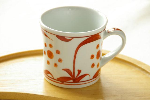 和食器・砥部焼 あか太陽のマグカップ