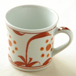 砥部焼 あか太陽のマグカップ