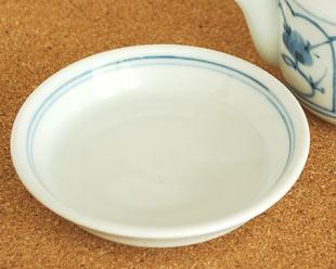砥部焼・梅山窯 なずなの醤油さしの受け皿