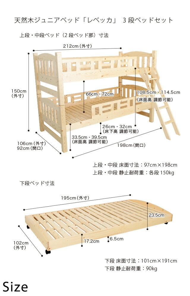 三段ベッドサイズ