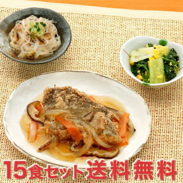 【送料無料】「おまかせ健康三彩 まとめ買い 15 食セットB」