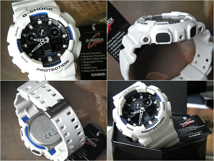 GA-100B-7A G ショックビッグフェイス overseas models. G-shock even the popular white  color! White can be used throughout the season x is bichs on black blue ... 22d13b2a3