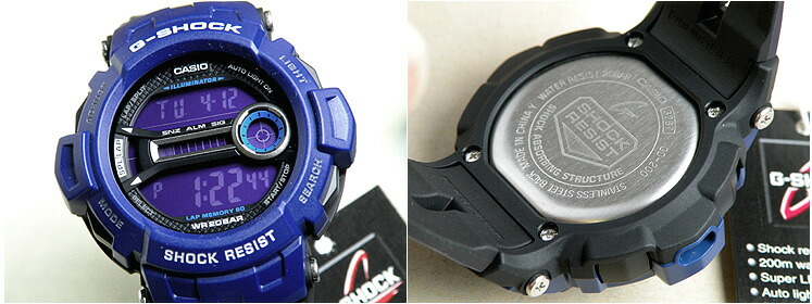 Watch store Kato tokeiten  CASIO Casio G shock GD-200-2 blue グラス ... 5d042e90907c