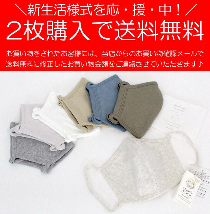 アルモニ マスク 2枚で送料無料