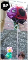 surprise てんとう虫のサンバルーン+風船のエサ付き 結婚式