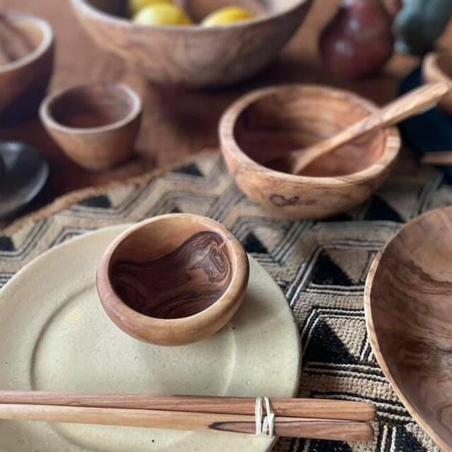 オリーブウッド 豆鉢( Sサイズ )