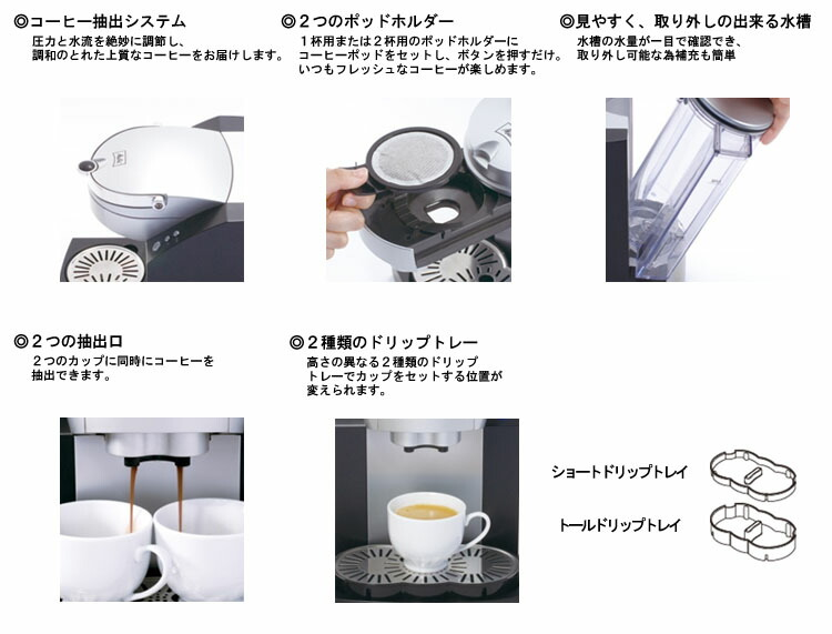 メリタコーヒーポッドマシン