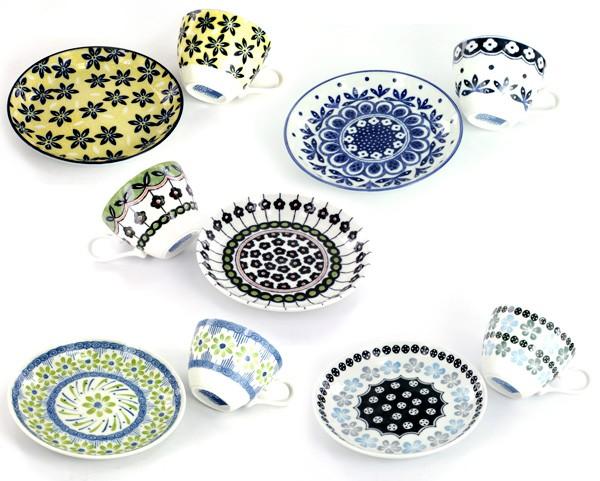 ポタリーフィールドコーヒー碗皿5客セット