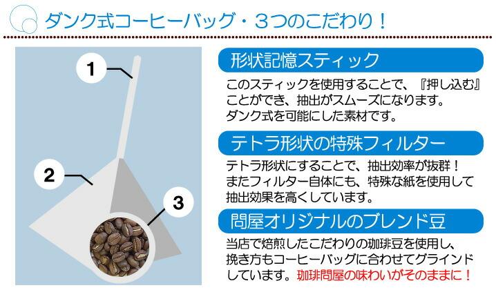 ダンク式コーヒーバック・3つのこだわり!